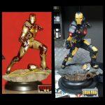 Iron man & war maschine figuras pintadas