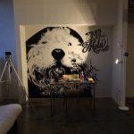 Puppy star mural aerografia