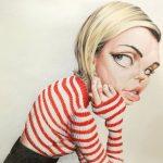 Caricatura de aerografista de Miley cyrus