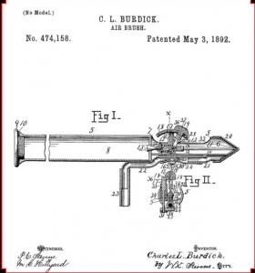 aerógrafo de Charles Burdick